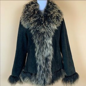 Donatella Mongolian sheep fur leather vintage chic